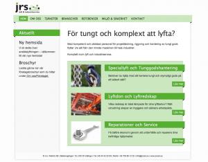 Hemsida Jrs i Malmö AB - komplett inom lyft och industriservice