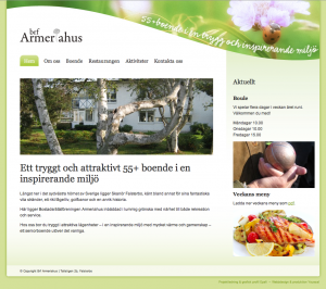 Hemsida Armeriahus - tryggt och attraktivt 55+ boende i Skanör Falsterbo