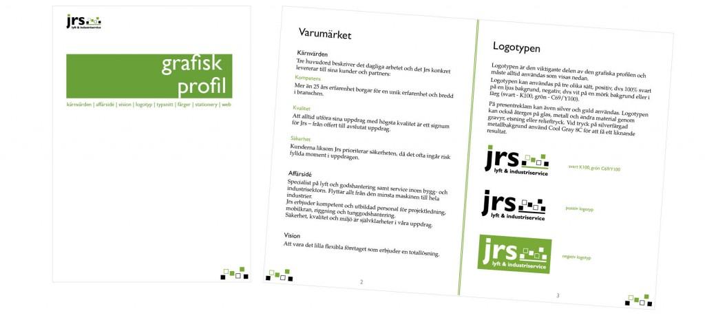 Grafisk profil - JRS i Malmö AB