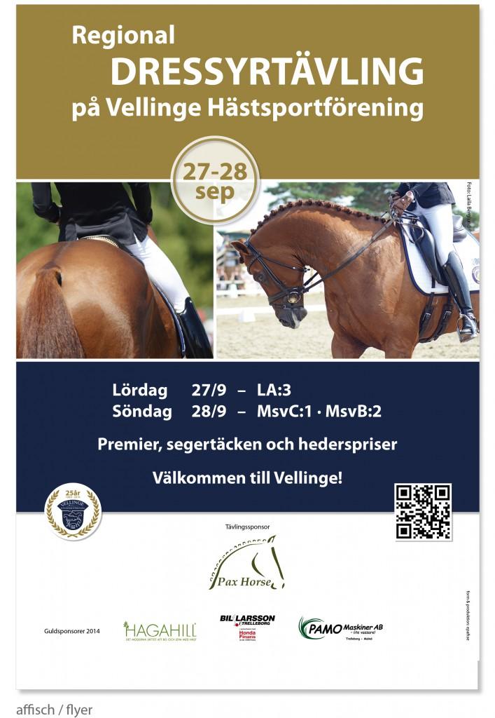 regional_dressyr_häst_vellinge-hästsportförening_affisch_flyer_by epafi