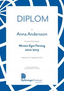 Diplom_NFCÖ_Mentor Eget Företag_by epafi