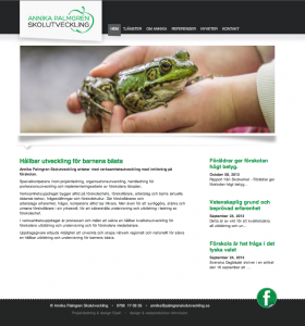 hemsida Palmgren Skolutveckling by epafi