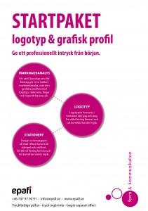 startpaket grafisk profil - logotyp - visitkort