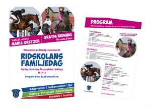 Ridskolans Familjedag - affisch, flyers, program, projektledning mm