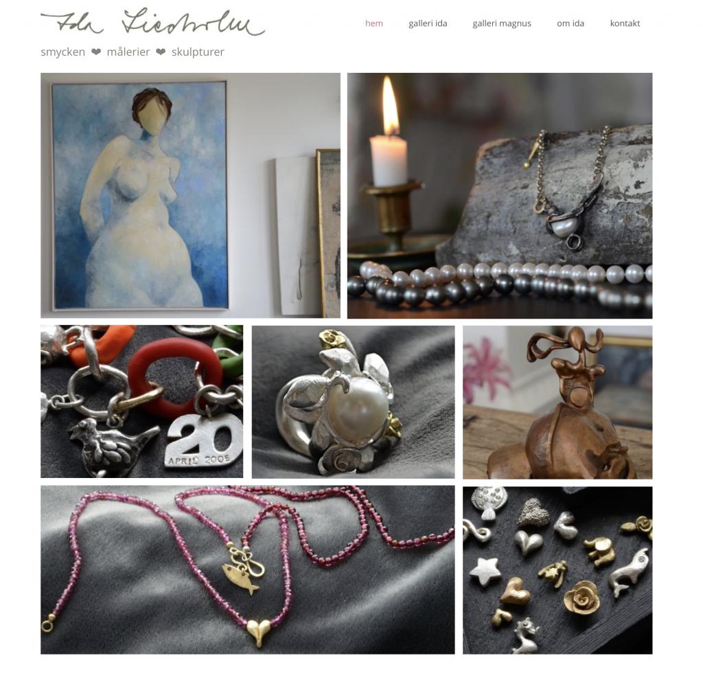 hemsida_idaliedholm_smyckeskonstnär_silver_målningar_skulpturer
